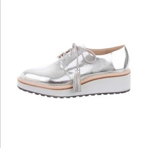 Loeffler Randall metallic platform loafers